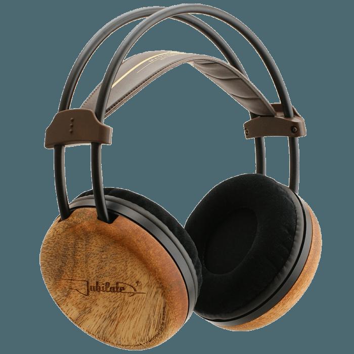 Hi-Fi circum-aural headphones with wooden cups